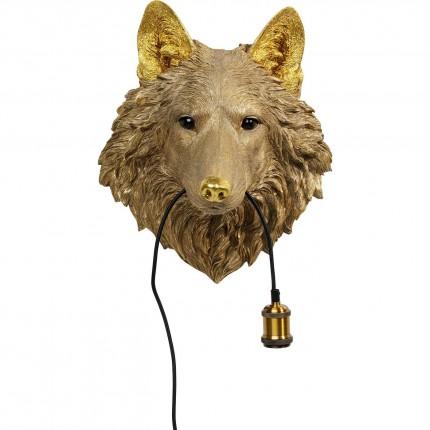 Applique murale loup doré Kare Design