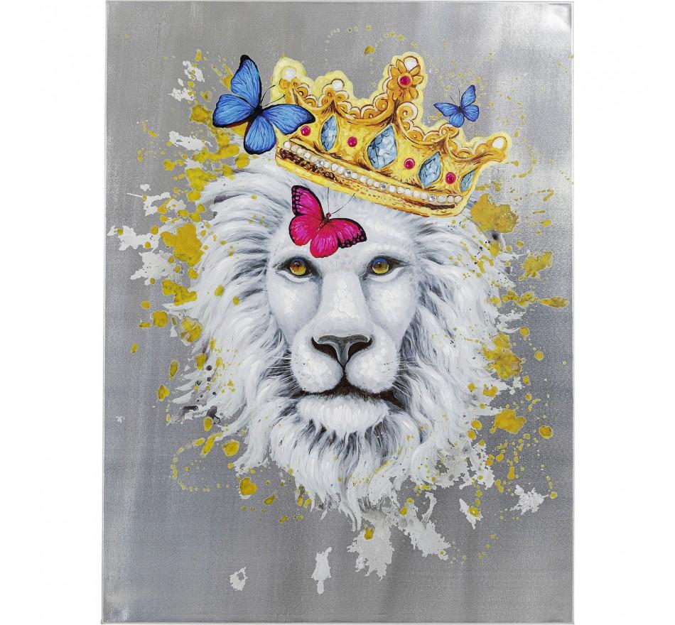 Tela a Óleo King of Lion 120x90cm
