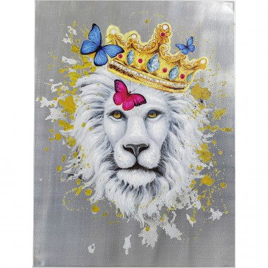 Tableau Touched lion roi 90x120cm Kare Design