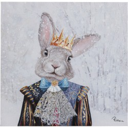 Tableau Touched lapin roi 50x50cm Kare Design