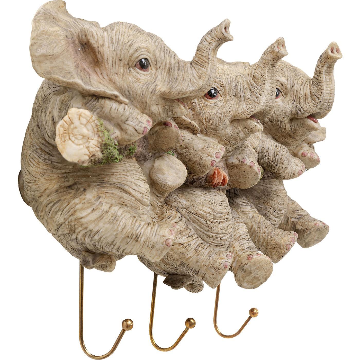 Portemanteau mural éléphants Kare Design