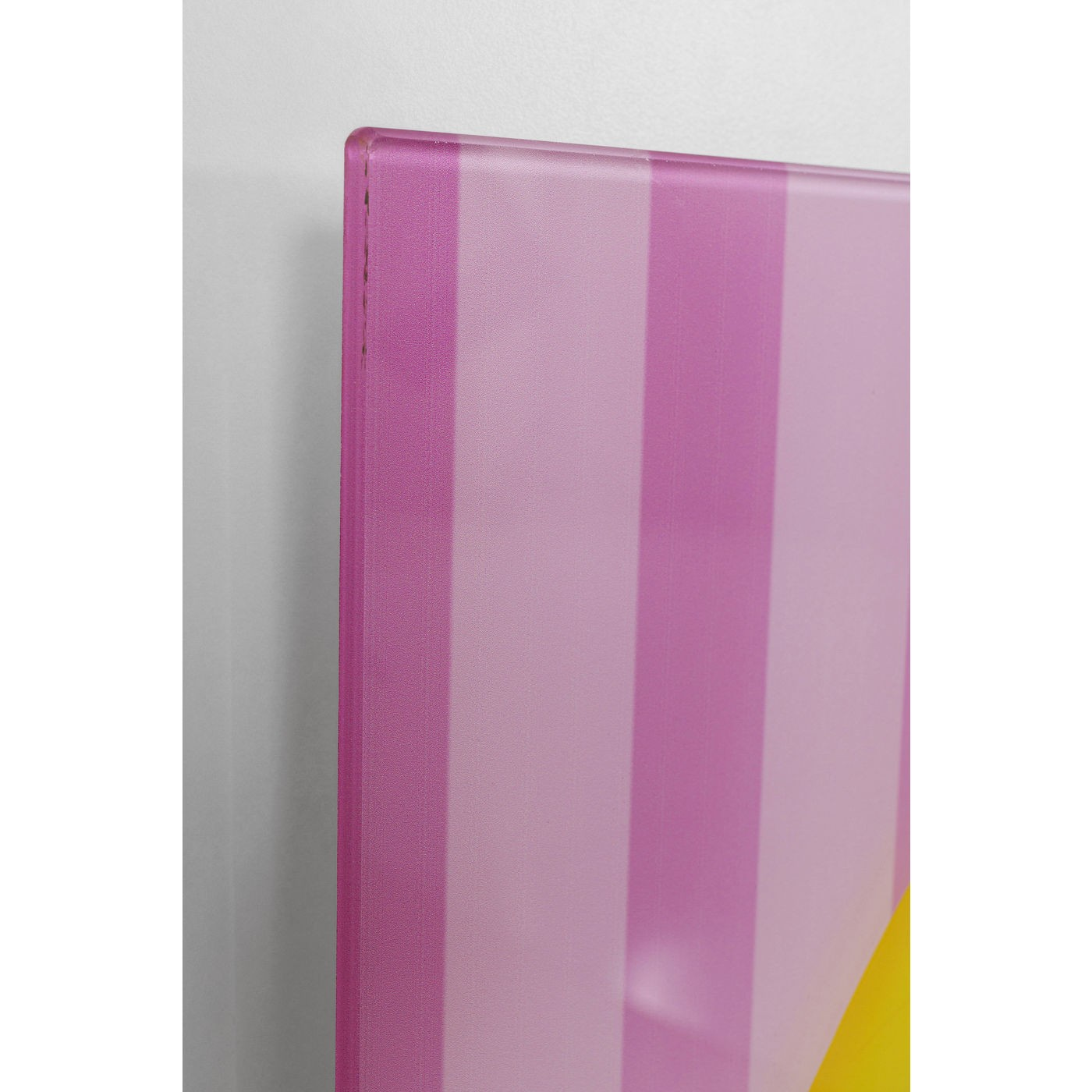 Tableau en verre chiens coiffures 80x60cm Kare Design