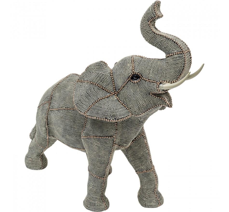 Déco Éléphant perles 38cm Kare Design