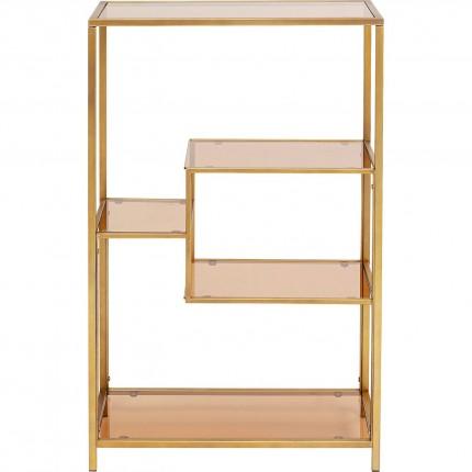 Etagère Loft dorée 100x60cm Kare Design