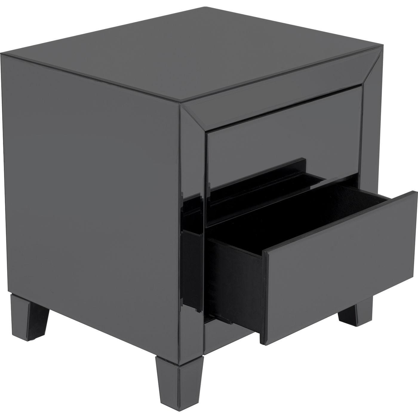 Chevet Luxury Push 2 tiroirs gris Kare Design