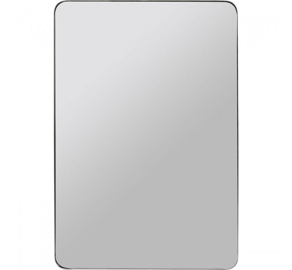 Miroir Curve rectangulaire chrome 120x80cm Kare Design