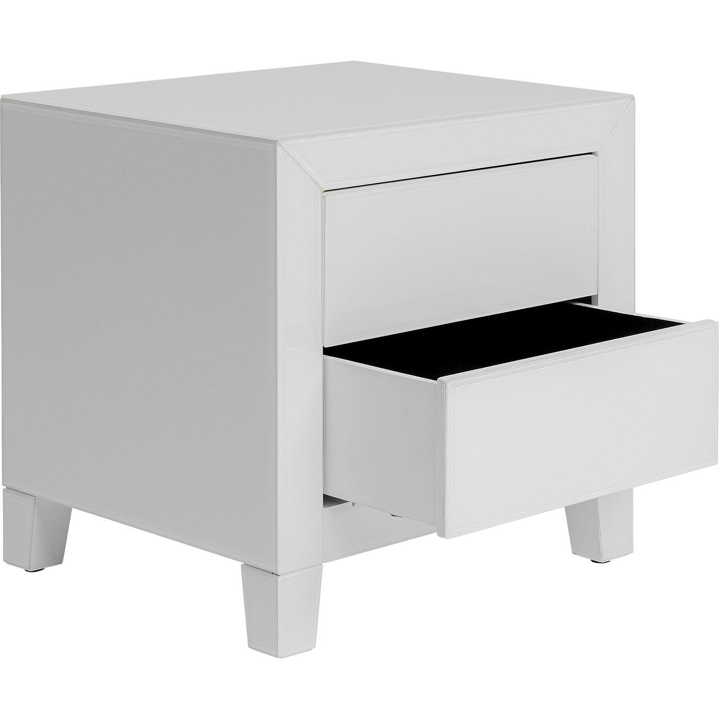 Chevet Luxury Push 2 tiroirs blanc Kare Design