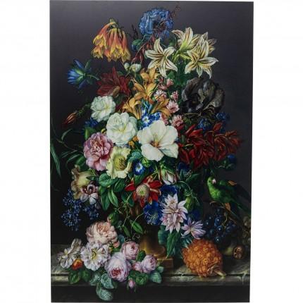 Tableau en verre coupe de fleurs 100x150cm Kare Design