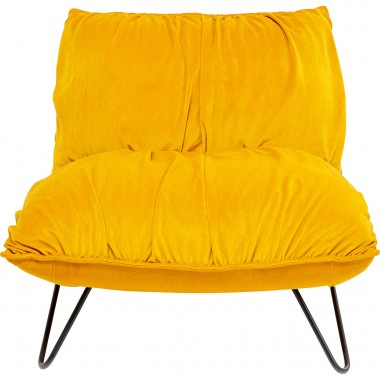 Fauteuil Port Pino velours jaune Kare Design