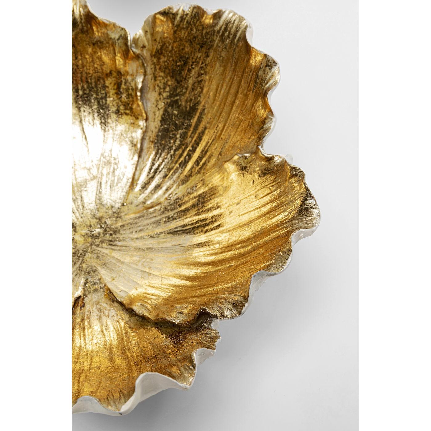 Coupe fleur dorée et blanche 20cm Kare Design