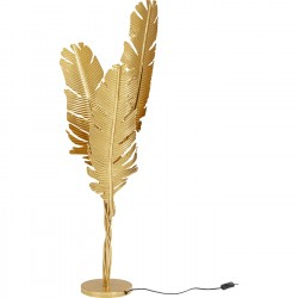 Lampadaire plumes dorées 123cm Kare Design