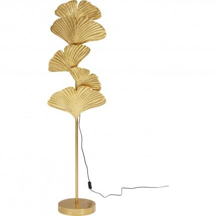 Lampadaire feuilles de ginkgo dorées 160cm Kare Design