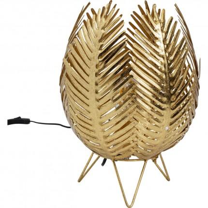 Lampe de table feuilles dorées Kare Design