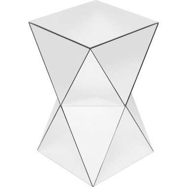 Table d'appoint Luxury Triangle blanche Kare Design