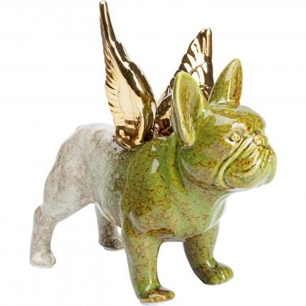 Déco bulldog imitation pierre ailes dorées Kare Design