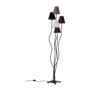 Lampadaire Flexible 5 bras 163cm marron Kare Design