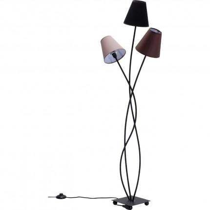 Lampadaire Flexible 3 bras 130cm marron Kare Design