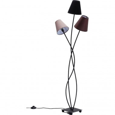 Lampadaire Flexible 3 bras 130cm marron Kare Design