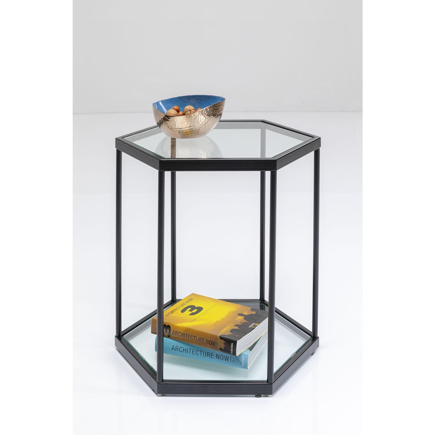 Table d'appoint Comb noire Kare Design
