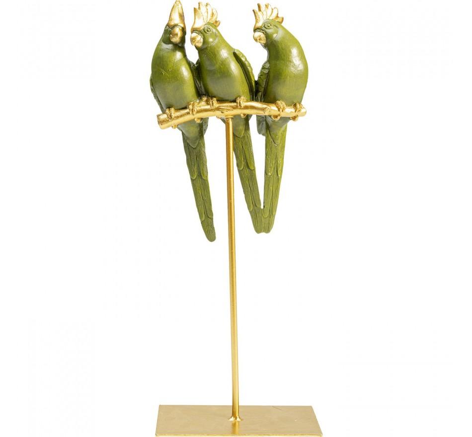 Déco perroquets trio Kare Design