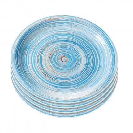 Assiette Swirl Blue 27cm 4/set Kare Design