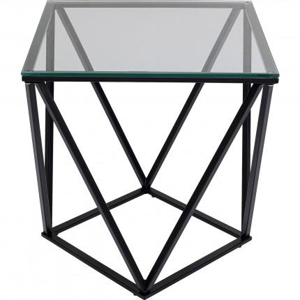 Table d'appoint Cristallo 50x50cm noire Kare Design