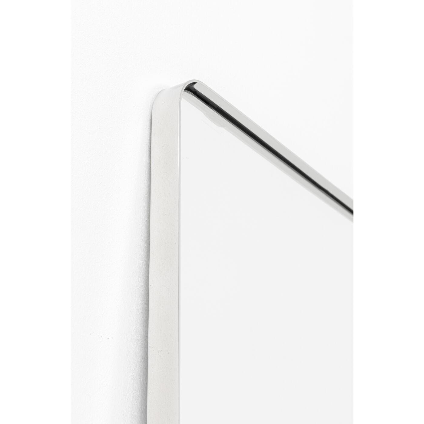 Miroir Curve rectangulaire chrome 200x70cm Kare Design