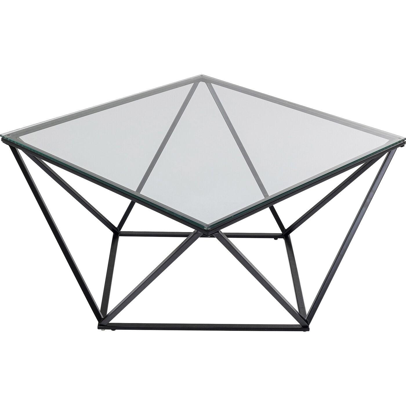 Table basse Cristallo 80x80cm noire Kare Design
