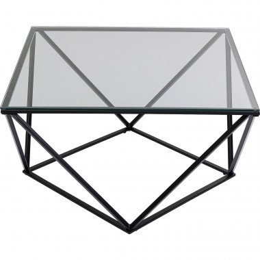 Table basse Cristallo 80x80cm noire Kare Design