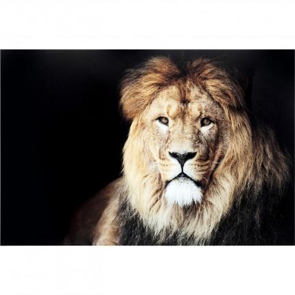Tableau en verre Lion 150x100cm Kare Design