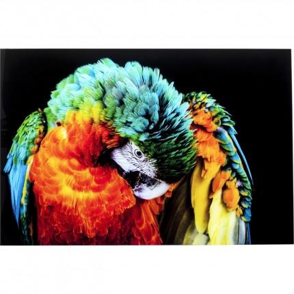 Tableau en verre perroquet 120x80cm Kare Design