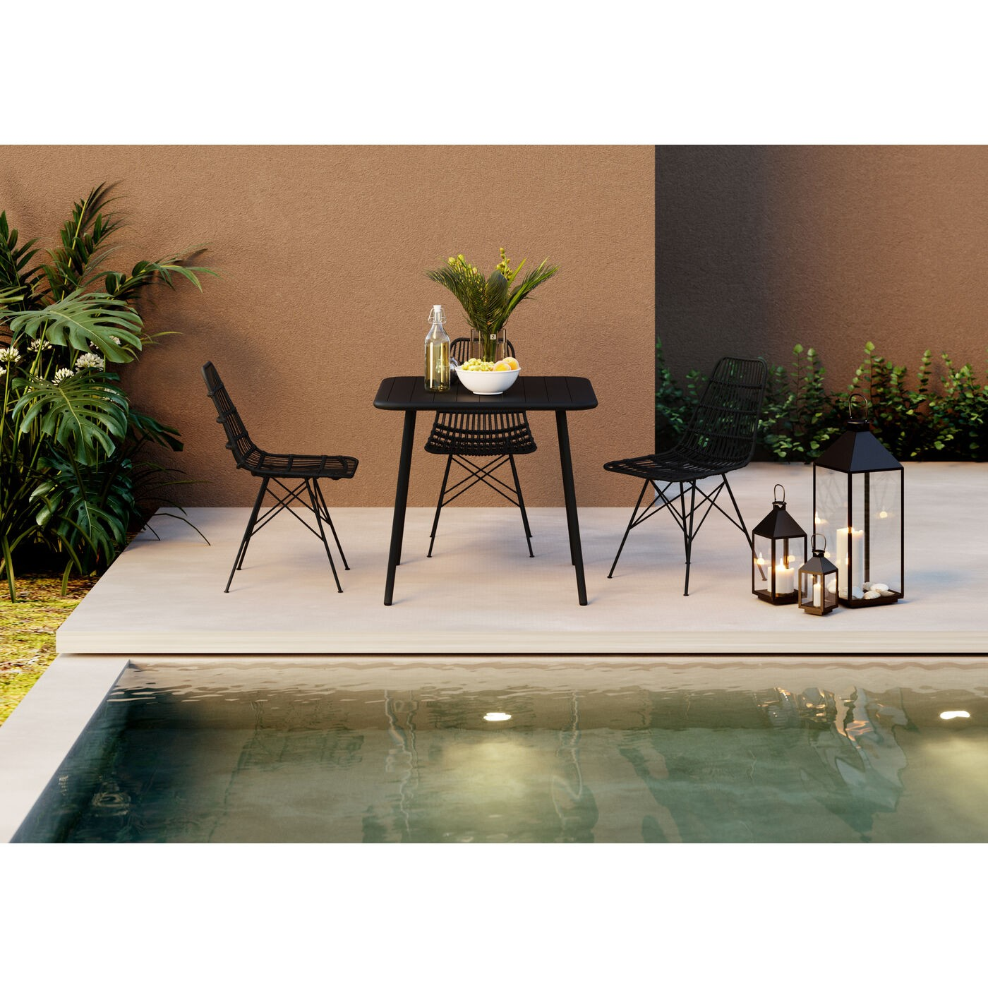 Chaise de jardin Bari grise Kare Design