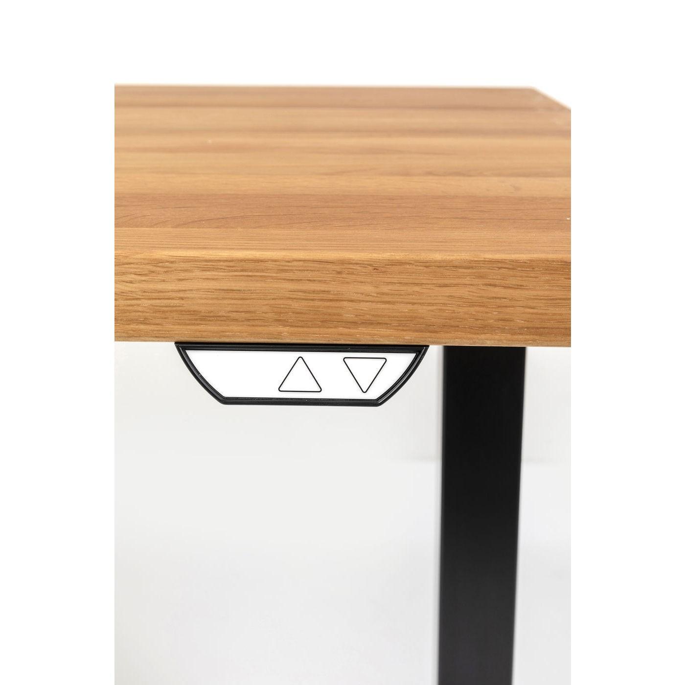 Bureau Smart Jackie chêne et noir Kare Design Taille - 160x80cm