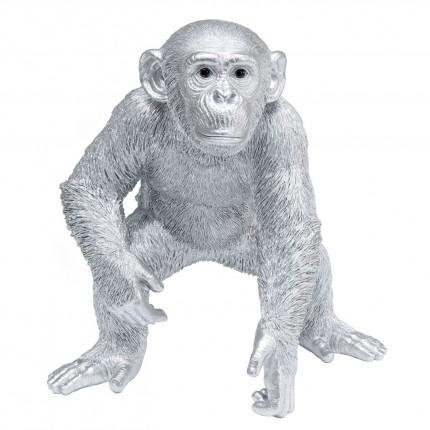 Déco singe argenté 50cm Kare Design