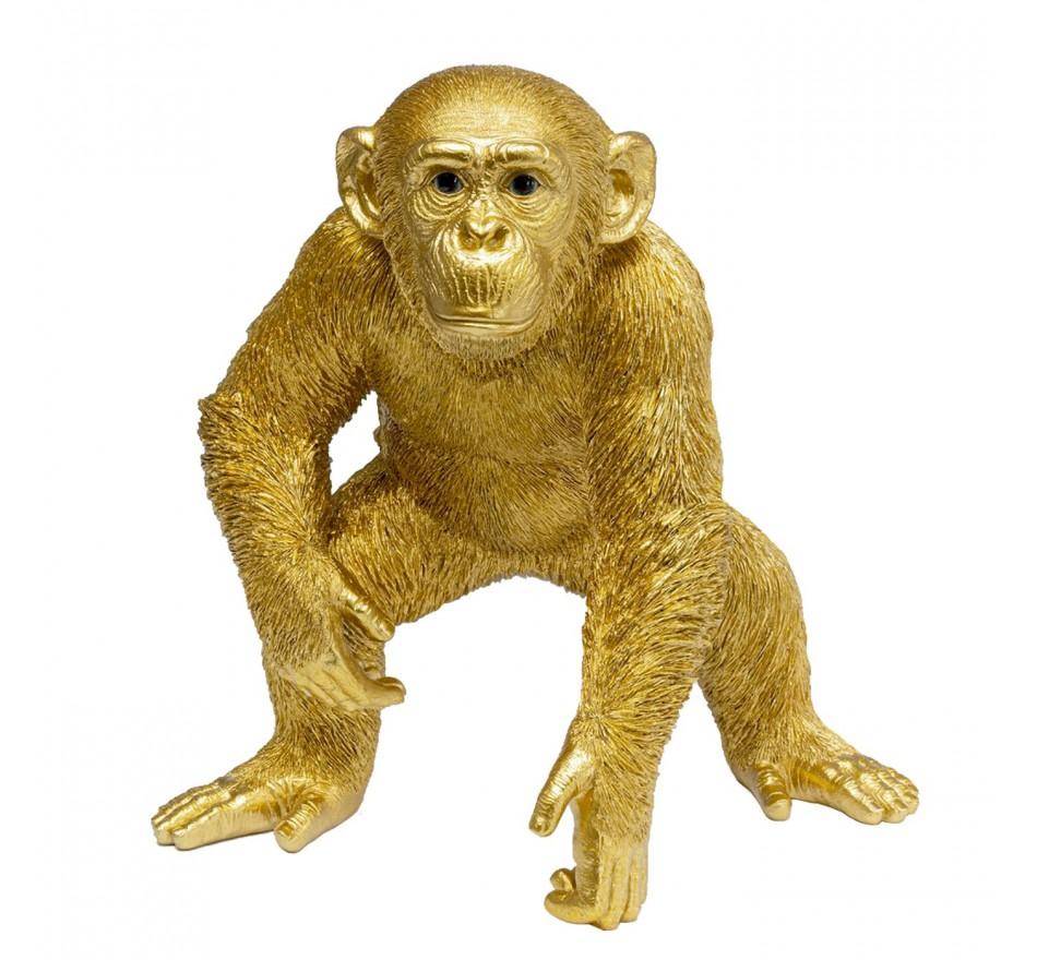 Déco singe doré 50cm Kare Design