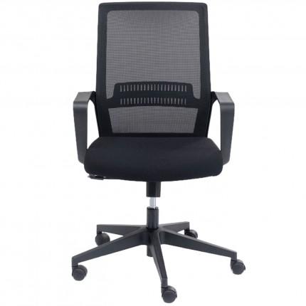 Chaise de bureau pivotante Max noire Kare Design