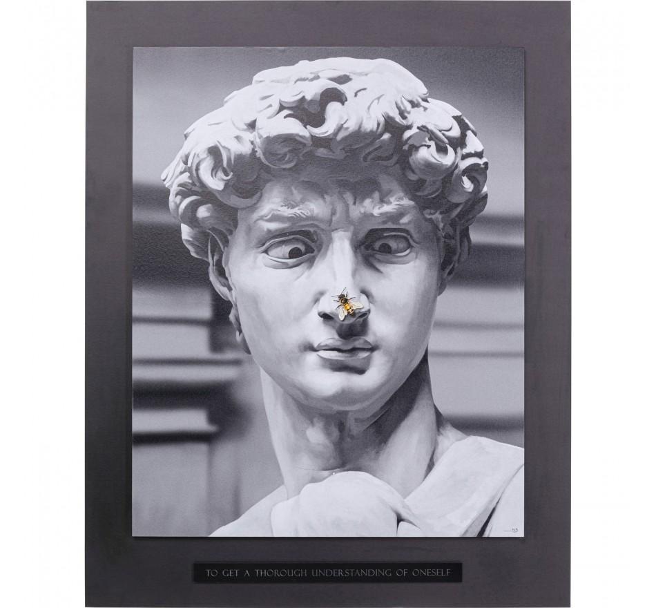 Tableau statue antique abeille 100x125cm Kare Design