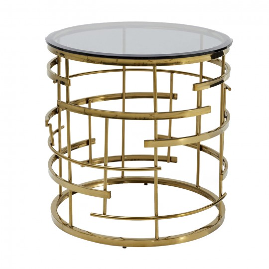 Table d'appoint Jupiter 55cm dorée Kare Design