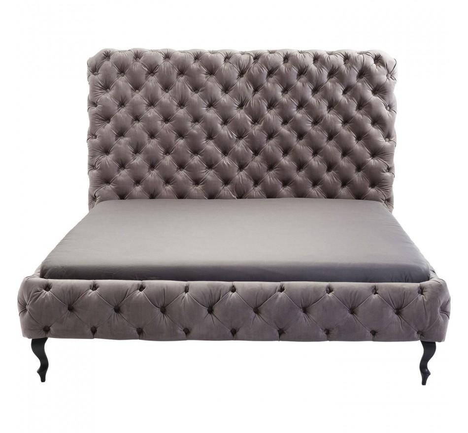 Lit Desire haut gris argenté 160x200cm