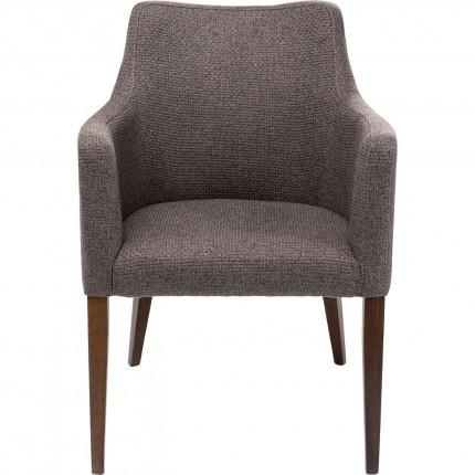 Chaise avec accoudoirs Mode Dolce marron Kare Design