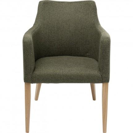 Chaise avec accoudoirs Mode Dolce verte Kare Design