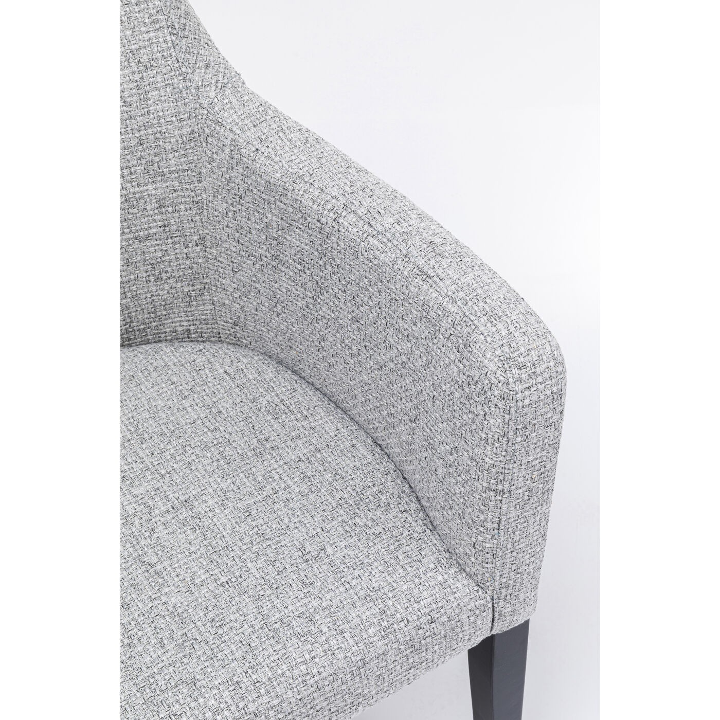 Chaise avec accoudoirs Mode Dolce Grise Kare Design