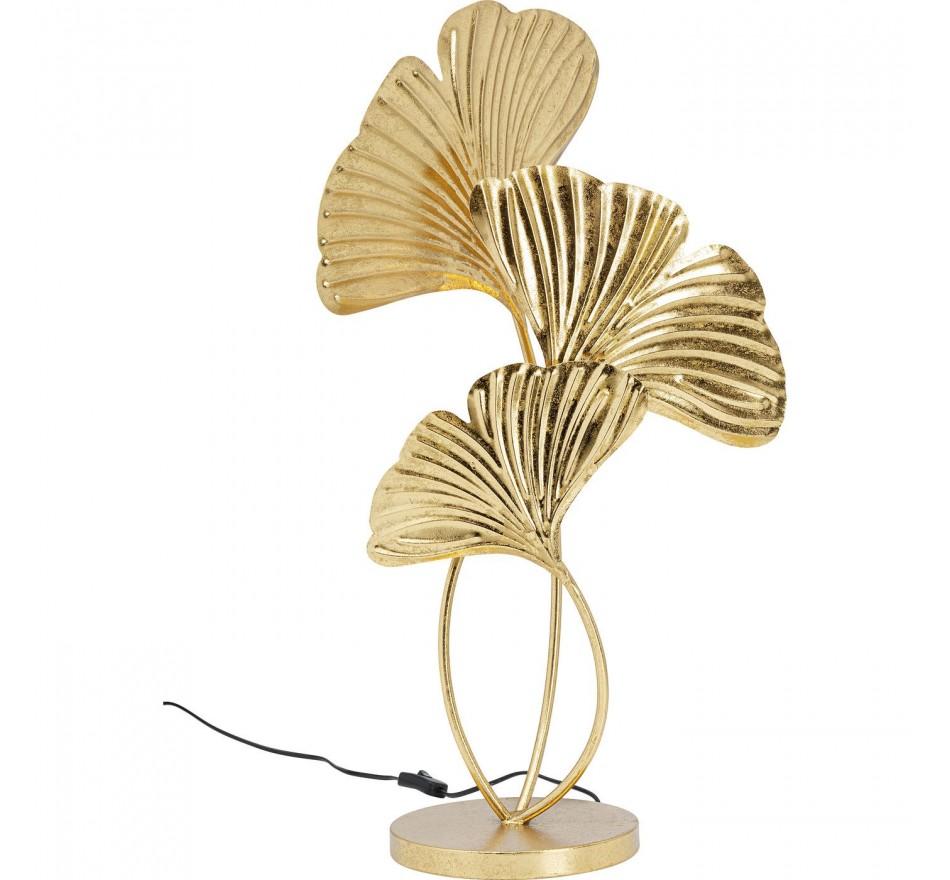 Lampe de table feuilles de ginkgo dorées Kare Design