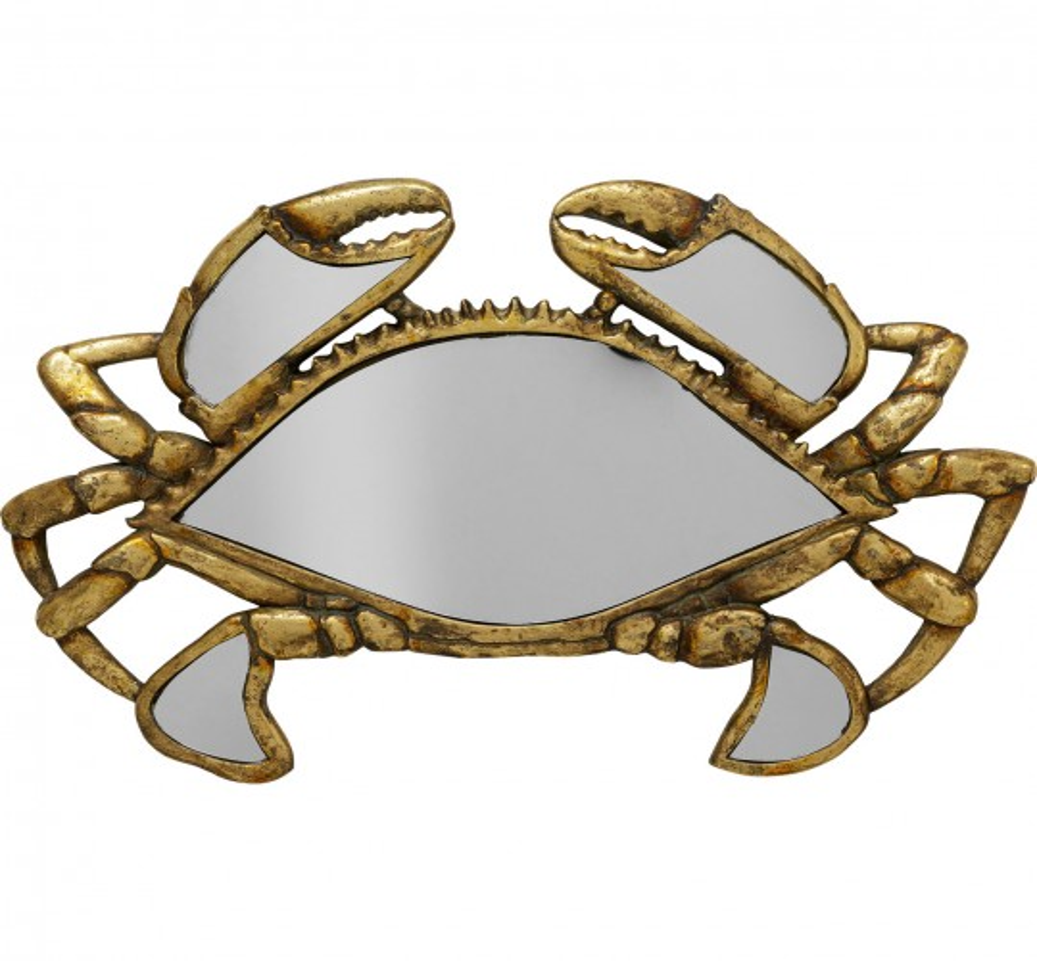 Déco murale miroir Crabe 43cm Kare Design