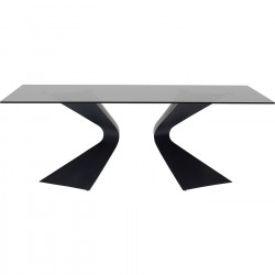 Table Gloria 200x100cm noire Kare Design