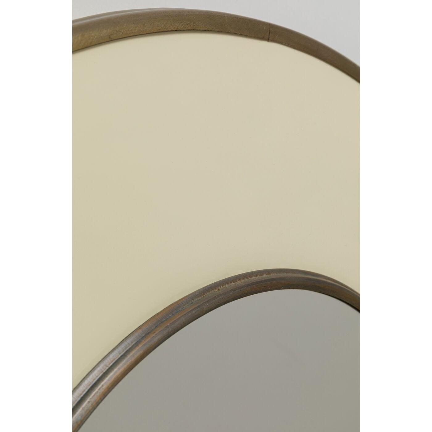 Miroir rond Lens 60cm blanc Kare Design