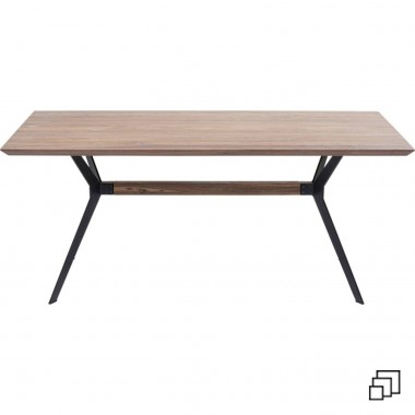 Table Downtown noyer 180x90cm Kare Design