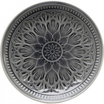Assiettes Sicilia Mandala grises 21cm set de 4 Kare Design