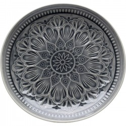 Assiettes Sicilia Mandala grises 27cm set de 4 Kare Design