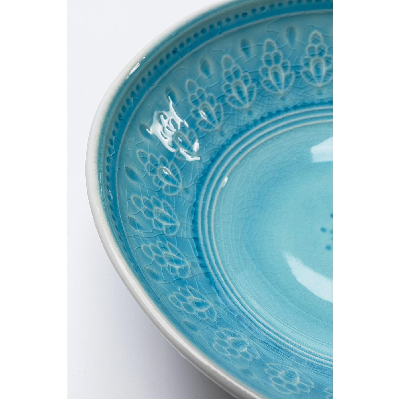 Bols Sicilia Mandala bleus 18cm set de 4 Kare Design